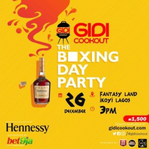 Gidi Cookout Boxing Day 2019 Ticket